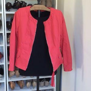 Elie Tahari coral jacket